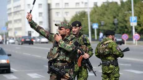 رجال الشرطة في الشيشان (صورة من الأرشيف)