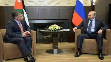 الرئيس الروسي فلاديمير بوتين مع العاهل الأردني الملك عبدالله الثاني (صورة من الأرشيف)