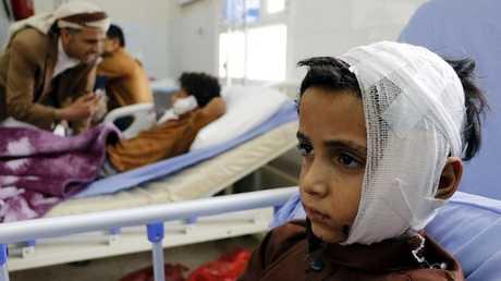 طفل يمني جريح