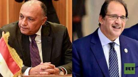 وزير الخارجية المصري سامح شكري ورئيس المخابرات العامة عباس كامل