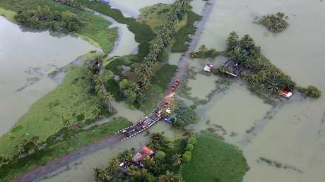 فيضانات في ولاية كيرالا الهندية