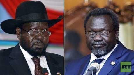 رئيس جنوب السودان سلفاكير ميارديت ورياك مشار