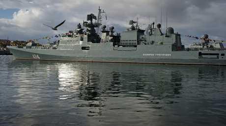 أرشيف - سفينة حربية روسية