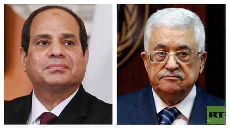 الرئيسان الفلسطيني محمود عباس والمصري عبد الفتاح السيسي