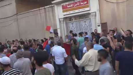 احتجاجات ضد إغلاق بعض المدارس بالقامشلي