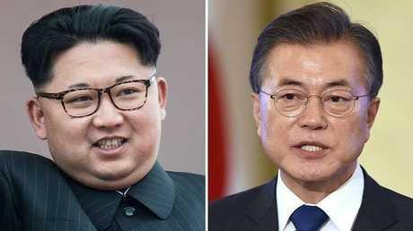 الرئيسان الكوري الجنوبي جيه-إن ونظيره الشمالي جونغ أون