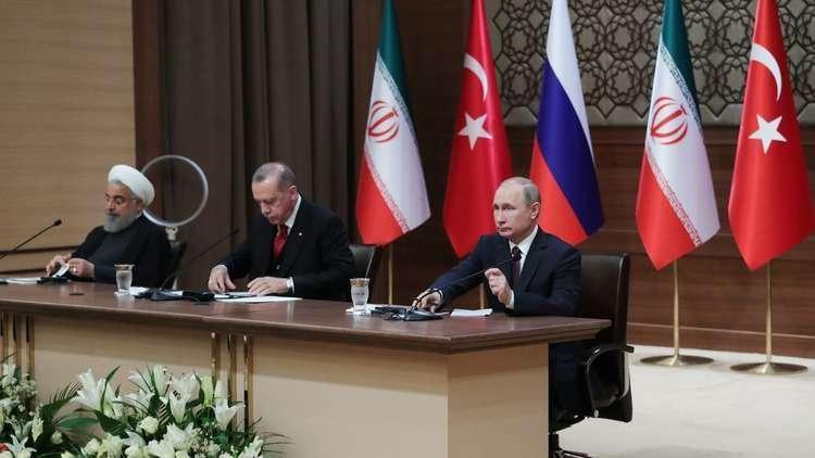 مصارحة على الهواء بين زعماء إيران وروسيا وتركيا بشأن إدلب