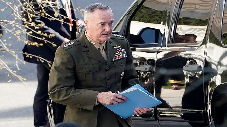 رئيس هيئة الأركان المشتركة الجنرال جوزيف دانفورد، واشنطن، 12 أبريل 2018
