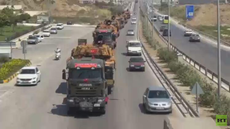 تعزيزات عسكرية تركية نحو الحدود مع سوريا