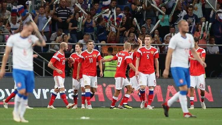 روسيا تقسو على التشيك بخماسية (فيديو)
