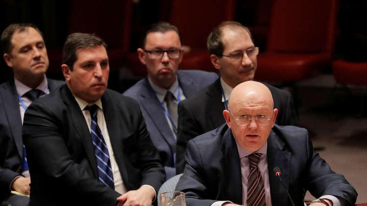 نيبينزيا: الغرب يستعد لتدخل عسكري في سوريا ولن نسمح للإرهابيين في إدلب باستخدام المدنيين دروعا بشرية