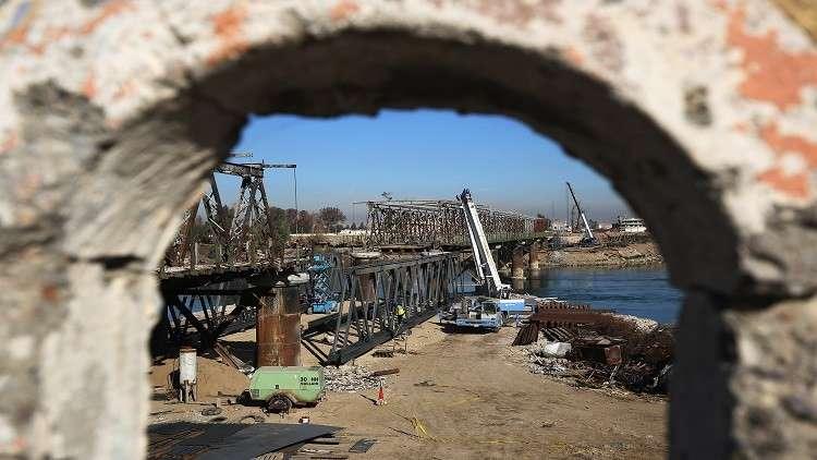 انحراف جسر في بغداد