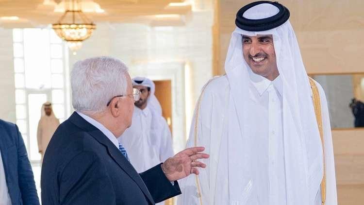 سفير قطر ينقل رسالة من تميم إلىعباس