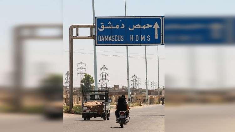 حادث مروري مروع على طريق حمص- دمشق