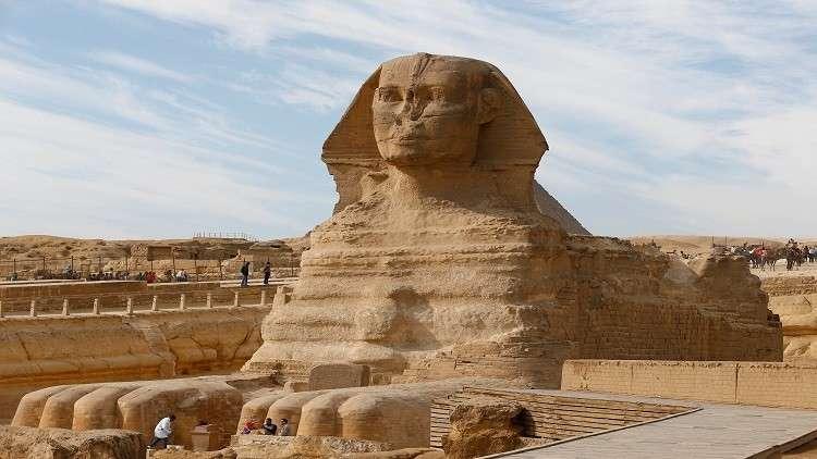 اكتشاف تمثال جديد من الحجر الرملي لأبو الهول في مصر