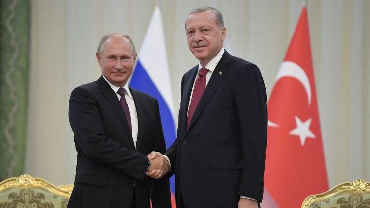 بوتين وأردوغان يبحثان الأزمة السورية في سوتشي