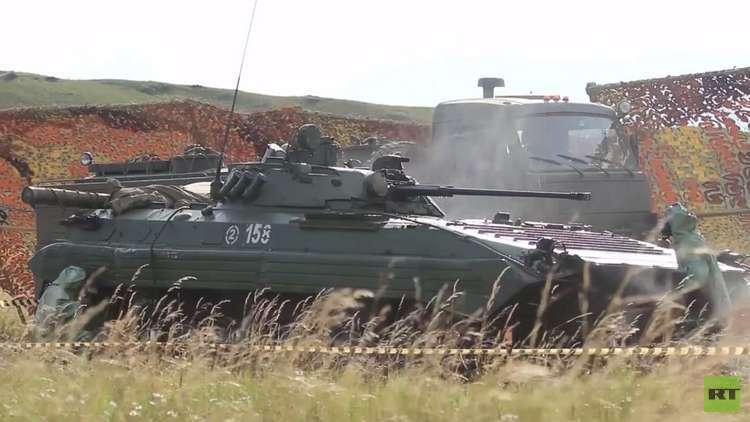 الجيش الروسي يتدرب على مكافحة السلاح الكيماوي في مناورات