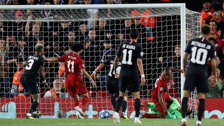 شاهد.. ليفربول يهزم باريس سان جيرمان في مباراة مجنونة