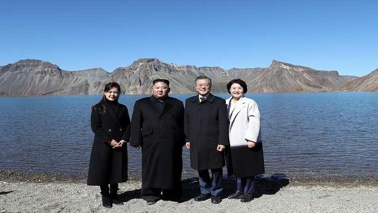 قائدا الكوريتين جنبا إلى جنب على قمة بايكتو المقدسة