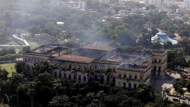 مصر تطلب إرسال خبير أثري لمعاينة المتحف المحترق في البرازيل