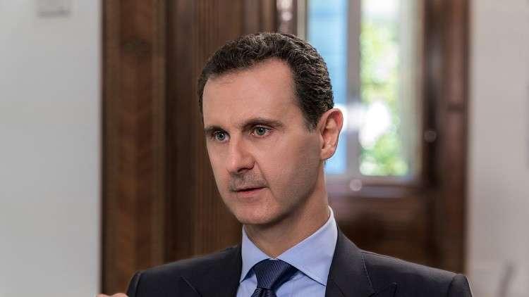 الأسد يعزي روحاني في هجوم الأهواز