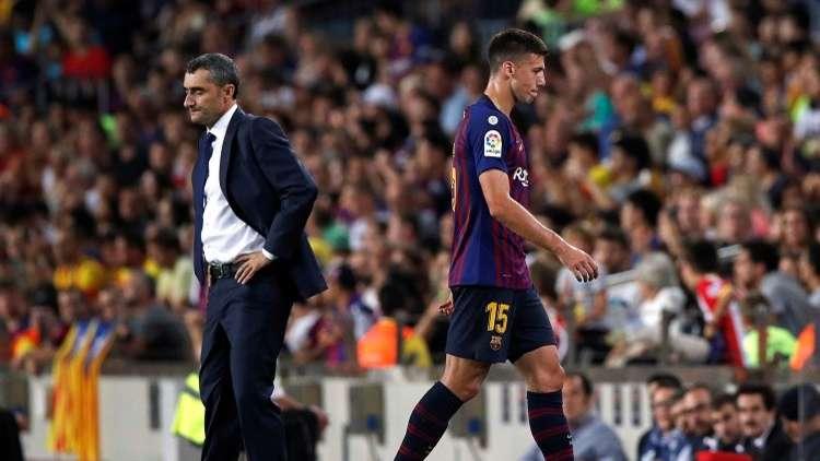 شاهد.. لقطة طرد لاعب برشلونة