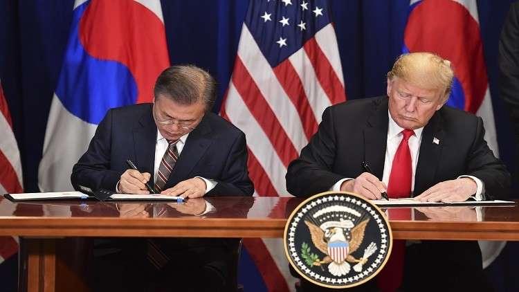 ترامب يوقع اتفاقية جديدة للتجارة الحرة مع كوريا الجنوبية