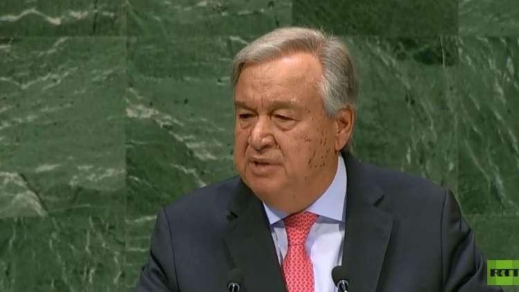 الأمين العام للأمم المتحدة: الفلسطينيون والإسرائيليون عالقون بصراع لا ينتهي وفرص حل الدولتين تتضاءل