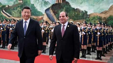 الرئيسان المصري عبد الفتاح السيسي والصيني شي جين بينغ
