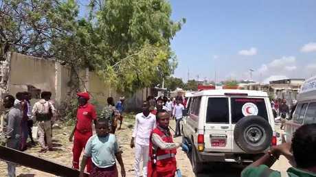 مكان الهجوم الانتحاري في عاصمة الصومال مقديشو