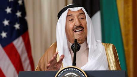 أمير الكويت الشيخ صباح الأحمد الجابر الصباح خلال زيارته إلى واشنطن في 7 سبتمبر عام 2017
