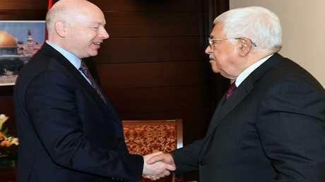 المبعوث الأمريكي للسلام في الشرق الأوسط جيسون غرينبلات في لقاء مع الرئيس الفلسطيني محمود عباس