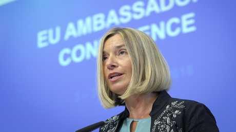المفوضة العليا للشؤون الخارجية والأمن للاتحاد الأوروبي فيديريكا موغيريني