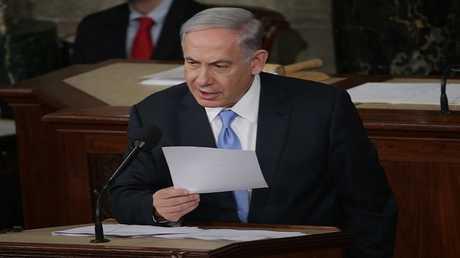 رئيس الوزراء الإسرائيلي بنيامين نتنياهو يلقي خطابا أمام الكونغرس الأمريكي في 3 مارس عام 2015