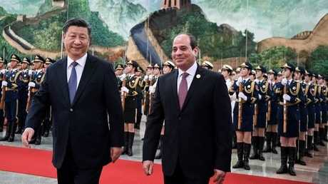 الرئيس المصري والرئيس الصيني