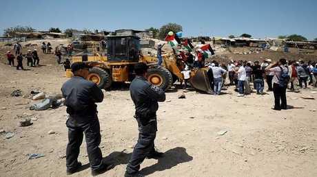 قرية خان الأحمر الفلسطينية في الضفة الغربية المحتلة