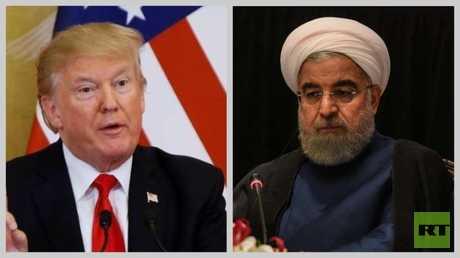 الرئيسان الأمريكي دونالد ترامب والإيراني حسن روحاني