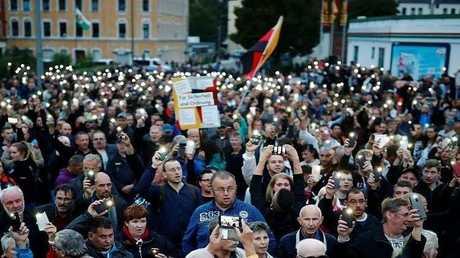 مظاهرة لليمين المتطرف في مدينة كيمنتس الألمانية