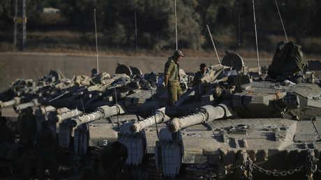 دبابات إسرائيلية على تخوم غزة