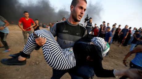 جريحة في قمع الجيش الاسرائيلي لمسيرات غزة