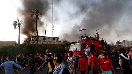 جانب من احتجاجات البصرة