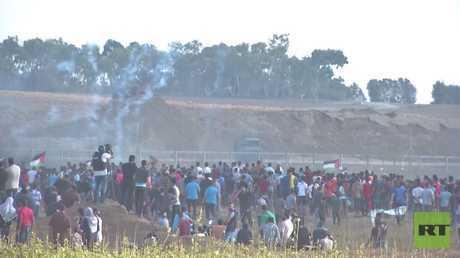 مقتل فلسطيني خلال التظاهرات في قطاع غزة