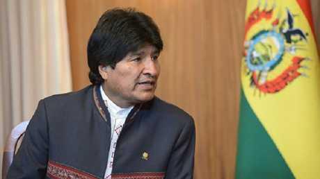 الرئيس البوليفي، إيفو موراليس