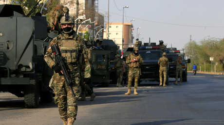 وحدات من قوات الأمن العراقية المنتشرة في البصرة على خلفية الاضطرابات في المدينة
