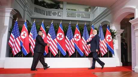 اللقاء بين دونالد ترامب وكيم جونغ أون في سنغافورة