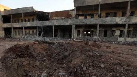 مقر الحزب الديمقراطي الكردستاني الإيراني بمدينة كويسنجق بمحافظة أربيل في العراق
