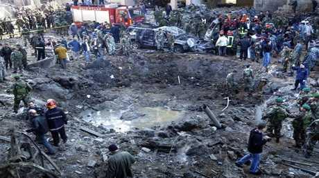مكان اغتيال الحريري في بيروت