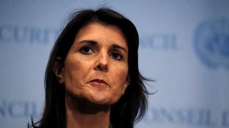 المندوبة الدائمة الأمريكية لدى الأمم المتحدة، نيكي هايلي
