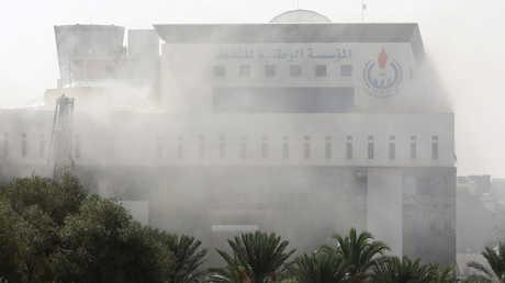 مقر المؤسسة الوطنية للنفط الليبية أثناء الهجوم