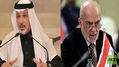 زير الخارجية العراقي إبراهيم الجعفري ووزير الدولة السعودي لشؤون الدول الإفريقية أحمد قطان